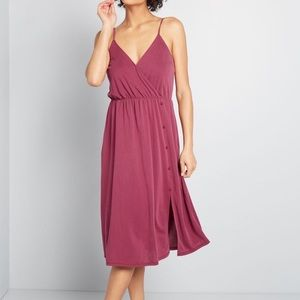 ModCloth NWT Wrap Buttons And Such Knit Dress